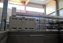 Luchtgroep pulsie/extractie met warmterecuperatie (Luchtdebiet 12.000 m³/h) .  Project Bruyland Technics