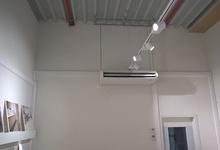 Aircotoestel voor het koelen/verwarmen van een werkplaats. Rudy.