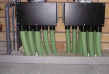 Ventilatie type D. Uitvoering met vloerkanaaltjes.